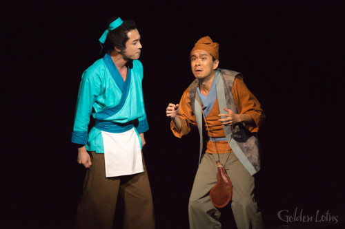 Marc Ngan as the Fruit Peddler & Billy Sy as Wu Da, Hong Kong
